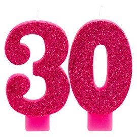 Candle - Pink and Gold Milestone 30