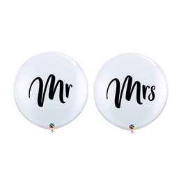 Latex Balloons - Mr & Mrs - 36""