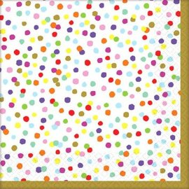 Napkins Bev - Rainbow Confetti