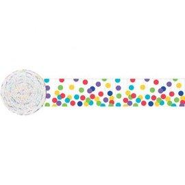 Paper Crepe Streamers- Multi Dots