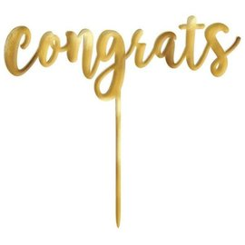 Cake Topper- Congrats- 1pc