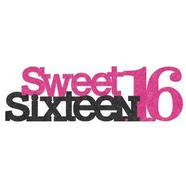 Glitter Decoration - Sweet Sixteen
