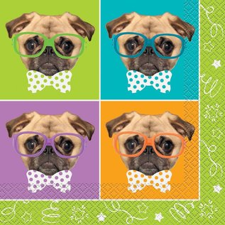 Napkins LN - Pug Puppy Birthday