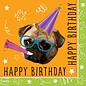 Napkins Bev - Pug Puppy Birthday