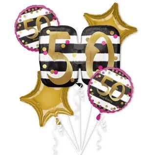 Foil Balloons Bouquet ( Pink & Gold)