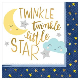 Lunch Napkins- Twinkle Little Star- 16pk/2ply