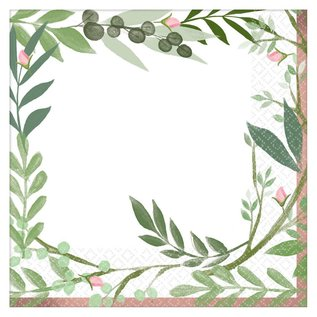 Lunch Napkins- Love and Leaves- 16pk/2ply