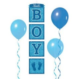 Hanging Decorations- It's a Boy- Glitter Drop- 3ft Tall