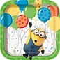 """Lunch Paper Plates- Minions- 8pk/6.875"""""""
