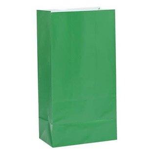 Loot Bags- Paper- Green- 12pk