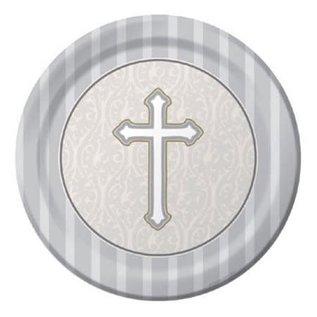 """Beverage Paper Plates- Devotion- 8pk/6.875"""""""