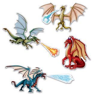 Cutouts - Dragon (7pk)