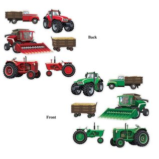 Cutouts - Farm Equipment- 6pcs