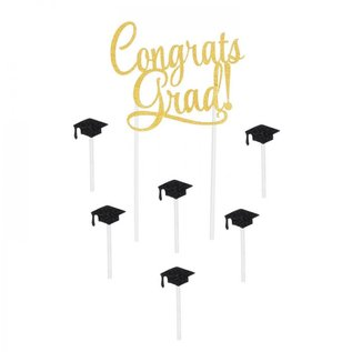 Cake Toppper - Congrats Grad!
