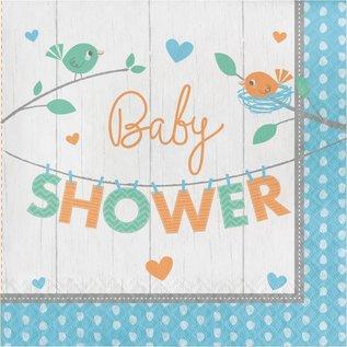Napkins Baby shower - Hello Baby Boy- 16pk-2ply