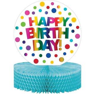 Centerpiece Happy Birthday Rainbow Foil