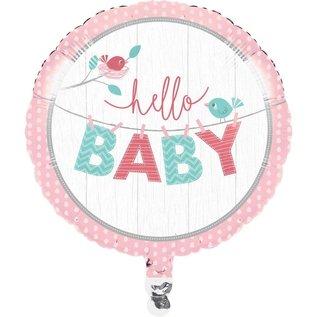 Foil Balloon - Hello Baby Girl