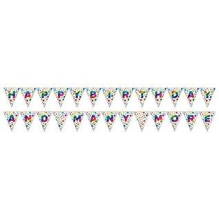 Banner - 2 Sided Pennant Rainbow Foil