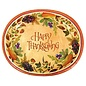 Dinner Paper Plates- Thanksgiving Medly- 8pk/12x10""