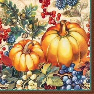 Dinner Napkins- Warm Harvest- 16pk/3ply