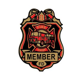 Fire Chief Badges- 4pk