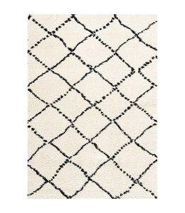Kalora Tapis Maroq Diamants noir/blanc, doux au toucher 5pi x 8pi