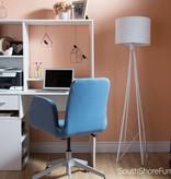 South Shore Bureau de travail pour ordinateur, Blanc solide, collection Annexe