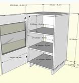 Nexera Cabinet audio, Noir, collection Vision