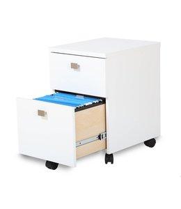 South Shore Classeur mobile à 2 tiroirs, Blanc solide, collection Interface