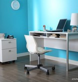South Shore Bureau de travail, Blanc solide, collection Interface