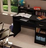 South Shore Bureau de travail, Noir solide, collection Axess