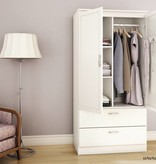 South Shore Armoire penderie, Blanc solide, collection Acapella