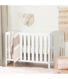 South Shore Angel Crib with Toddler rail, Pure White