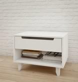 Nexera Table de nuit 1 tiroir, Blanc, collection Aura
