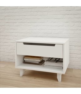 Nexera Aura 1-Drawer Night Stand, White