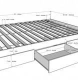 Nexera lit matelot double 54 3 tiroirs noyer for Tapis exterieur 8x10