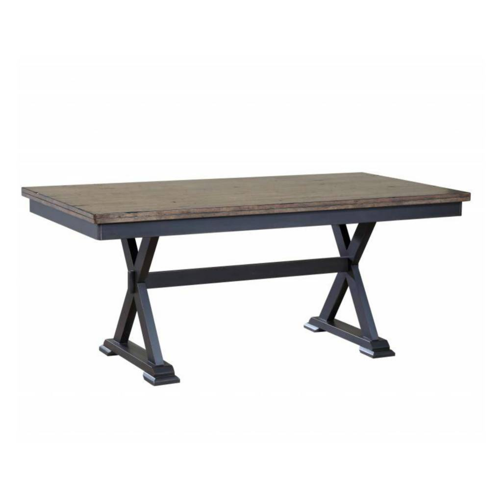 Donald Choi Paxton Dining Table 36x72 Black And Brown