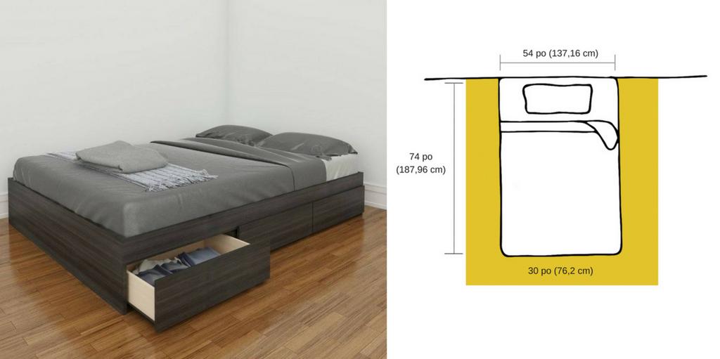 comment choisir la bonne grandeur de lit m2go. Black Bedroom Furniture Sets. Home Design Ideas