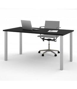 """Bestar Table 30"""" x 60"""" avec pattes de métal carrées au fini Noir,"""