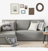 South Shore Canapé-lit d'angle avec rangement Live-it Cozy, Gris brume