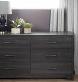 South Shore Bureau double 6 tiroirs Fusion, Chêne gris