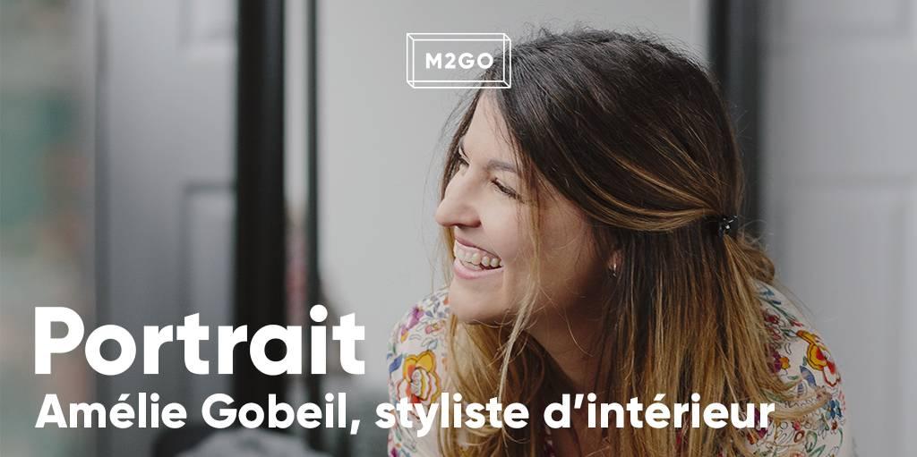 Portrait d'Amélie Gobeil, styliste d'intérieur