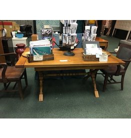 """Trestle Table w/2 15"""" Leaves"""