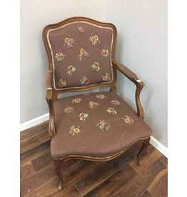 French Provincial Arm Chair w/Floral Print