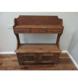 Child Size Rustic Solid Wood Hutch
