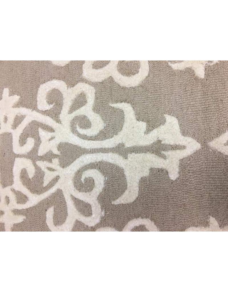 Talence Hand-Tufted Sand/Ivory Area Rug 5x8