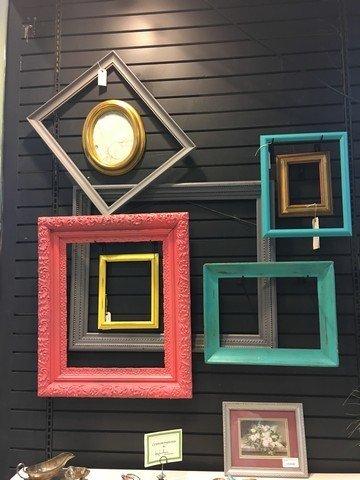 Vintage Teal Picture Frame 10x14.5 inside 14.5x19 outside