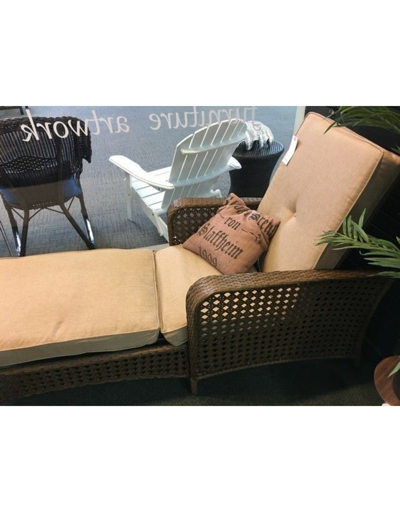 Cosco Home and Office Gretna Chaise Lounge with Cushion Heirloom