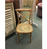 X back Cane Seat Side Chair