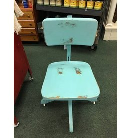 Vintage Teal Office Chair 16x18x34